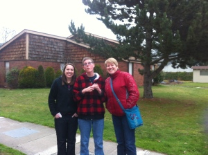 Gretchen and Kelly came from Spokane and visited Thomas - This is after their trip to Red Robin for lunch!