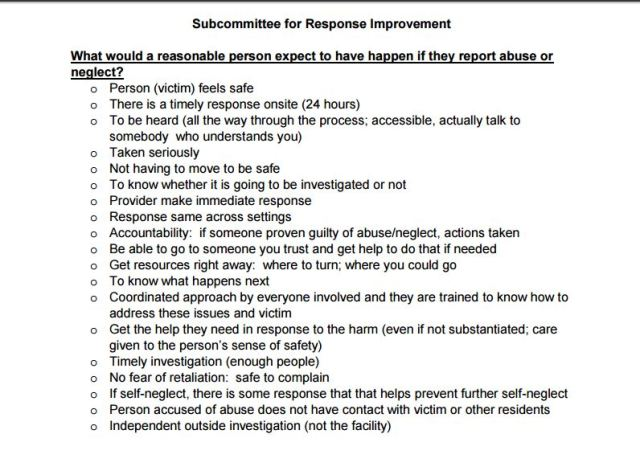 subcommittee-response