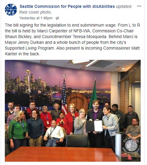 Seattle Commission for PwD - please be accountable