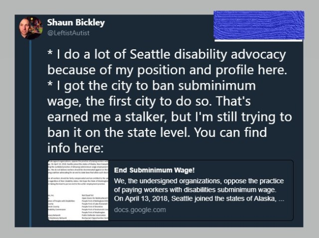 I got the city to ban subminimum wage