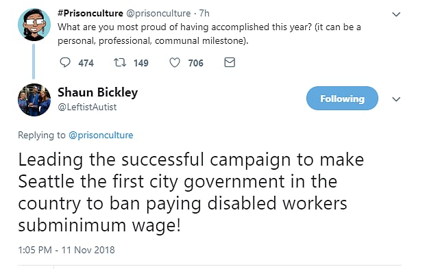 Bickley led the way for the subminimum wage ban