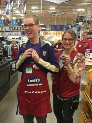 Thomas getting 4 year award at Lowes