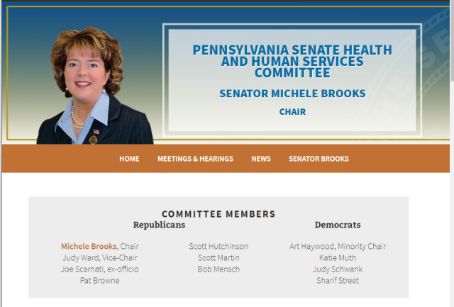 PA Senate Helath and Human Services Committee